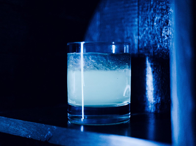 glow-in-the dark vodka tonic