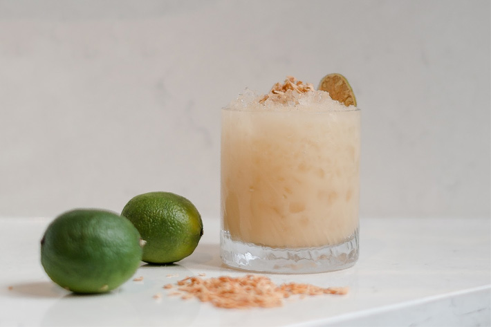 Frozen Pina Colada summer cocktail