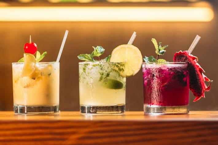 Three brunch cocktails