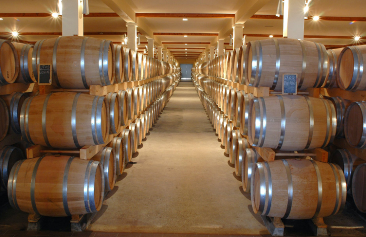 Rows of barrels